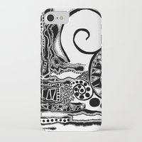 abigail larson iPhone & iPod Cases featuring Together, We Are Fossils by Kaitlyn Larson by DeadSuperHero