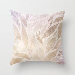Brownie leaves Throw Pillow