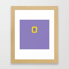 Friends Peephole Frame Framed Art Print