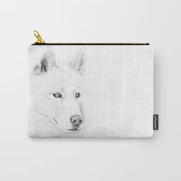 Saber :: A Siberian Husky Carry-All Pouch
