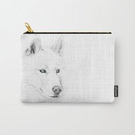Saber :: A Siberian Husky Carry-All Pouch