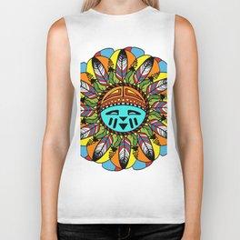 Hopi Sunshine Girl by Amanda Martinson Biker Tank