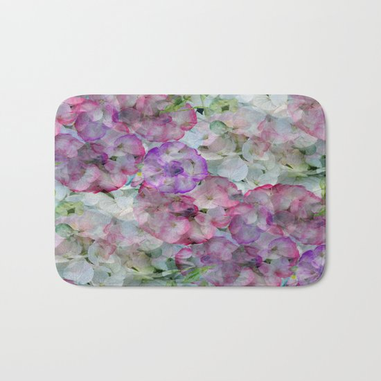 Mesmerizing Floral Abstract Bath Mat