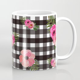 Gingham+Floral Coffee Mug