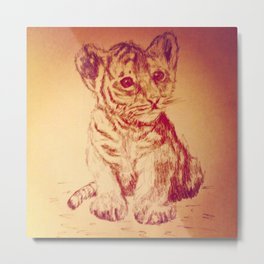 The Baby Tiger Metal Print
