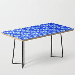 Blue Floral And Turtles Hawaiian Pattern Coffee Table