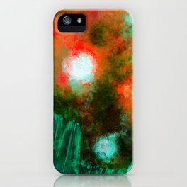 Abstract Landscape (Floating Lights) iPhone Case