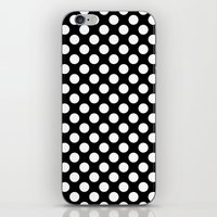 polka dots iPhone & iPod Skins featuring Polka Dots by Kings in Plaid