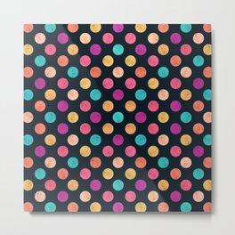Watercolor Dots Pattern VI Metal Print