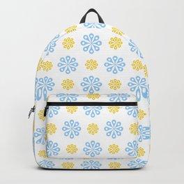 geometric flower 56 blue and orange Backpack