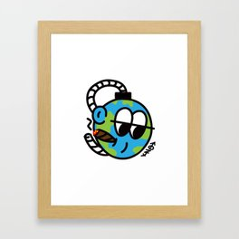 EARTH SELF DESTRUCT Framed Art Print