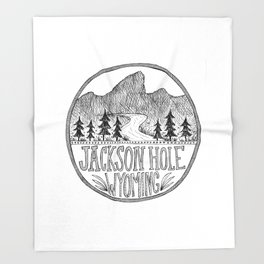 Jackson Hole Wyoming Throw Blanket