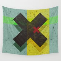 cross Wall Tapestries featuring CROSS by Metron