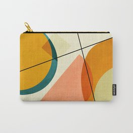 mid century geometric shapes painted abstract III Carry-All Pouch