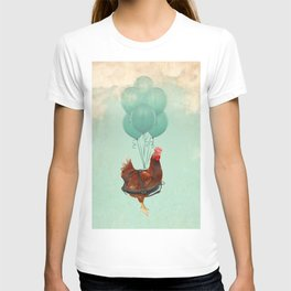 Chickens can't fly 02 T-shirt