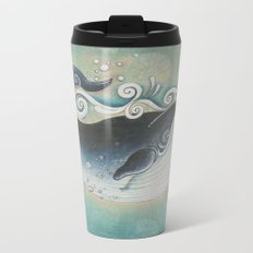 the Blue Whale Metal Travel Mug
