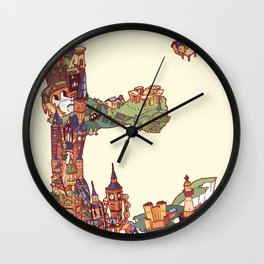 E is for England Wall Clock