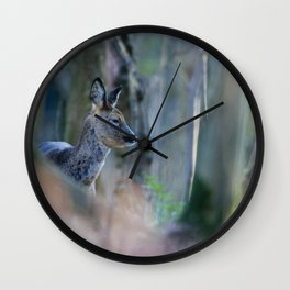ROE DEER IN WOODLAND Wall Clock