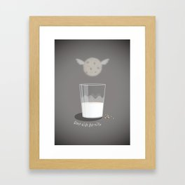 Gone with the milk Framed Art Print