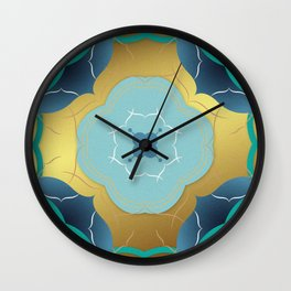 Vintage Tiles: Yellow Wall Clock