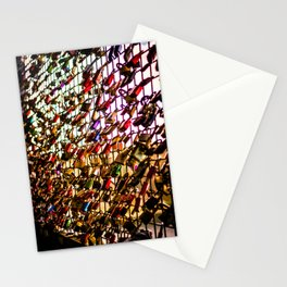 Love Padlocks Fence At Möhne Reservoir bright Stationery Cards