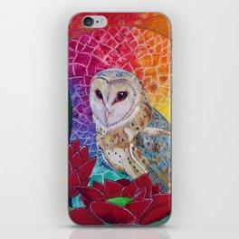 Lakshmi's Vahana ( Bird Whisperer Project Owl ) iPhone Skin