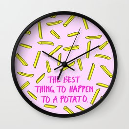 Fries Are Amazing: The Best Thing To Happen To A Potato Wall Clock