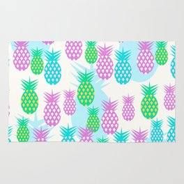 Tropical pineapples Rug
