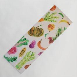watercolor veggie market Yoga Mat