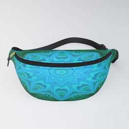 Green and blue Fanny Pack