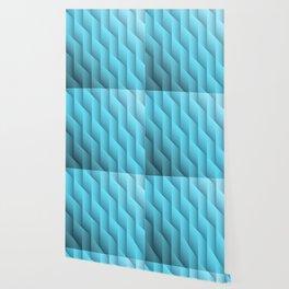 Gradient Teal Diamonds Geometric Shapes Wallpaper
