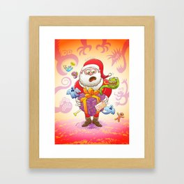 A Christmas Gift from Halloween Creepies to Santa Framed Art Print