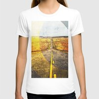 road T-shirts featuring Road by emegi