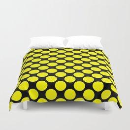 Black yellow polka dot Duvet Cover