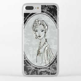 Belle de Jouy 2 Clear iPhone Case