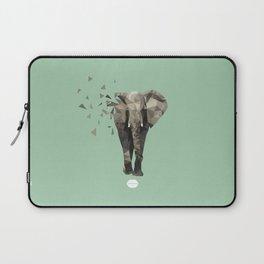 Low Poly Elephant  Laptop Sleeve