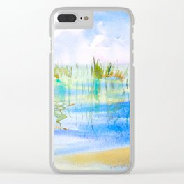 Reeded Lake Clear iPhone Case