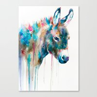 donkey Canvas Prints featuring Donkey by Slaveika Aladjova