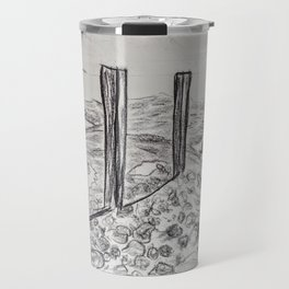 Coast in charcoal Travel Mug