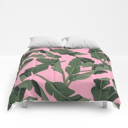 Tropical '17 - Forest [Banana Leaves] Comforters