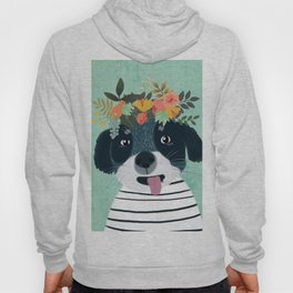 PUPPY DOG WITH FLOWERS Hoody