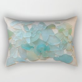Ocean Hue Sea Glass Rectangular Pillow