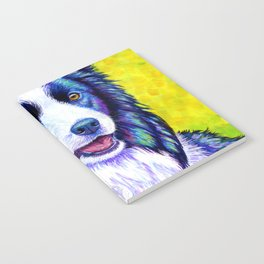 Colorful Border Collie Dog Notebook