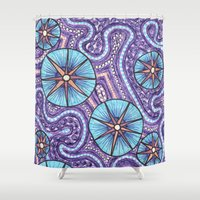 celestial Shower Curtains featuring Celestial by ErinNNelson
