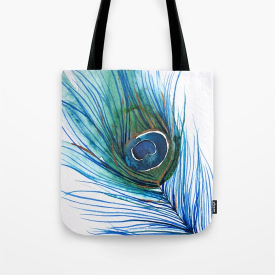 Peacock Feather I Tote Bag