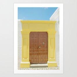 Door in Greece Art Print