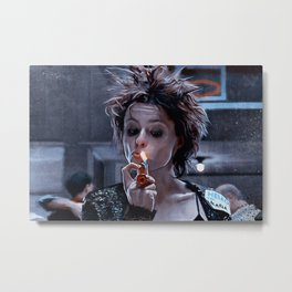 Marla Singer Smoking A Cigarette Metal Print