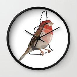 New Hampshire – Purple Finch Wall Clock