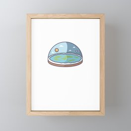 Flat Earth In Flat Brains - Funny Conspiracy Framed Mini Art Print