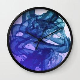 Blue Violet Bends Wall Clock